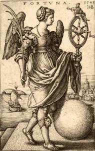 Vrouwe Fortuna met haar rad